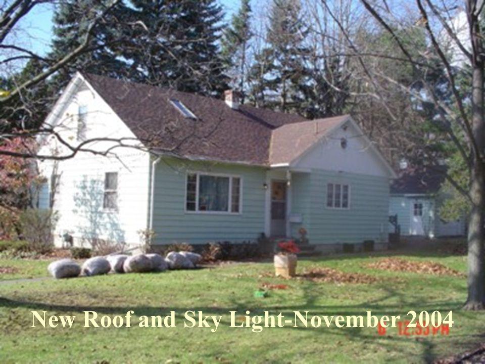 New Roof and Sky Light-November 2004