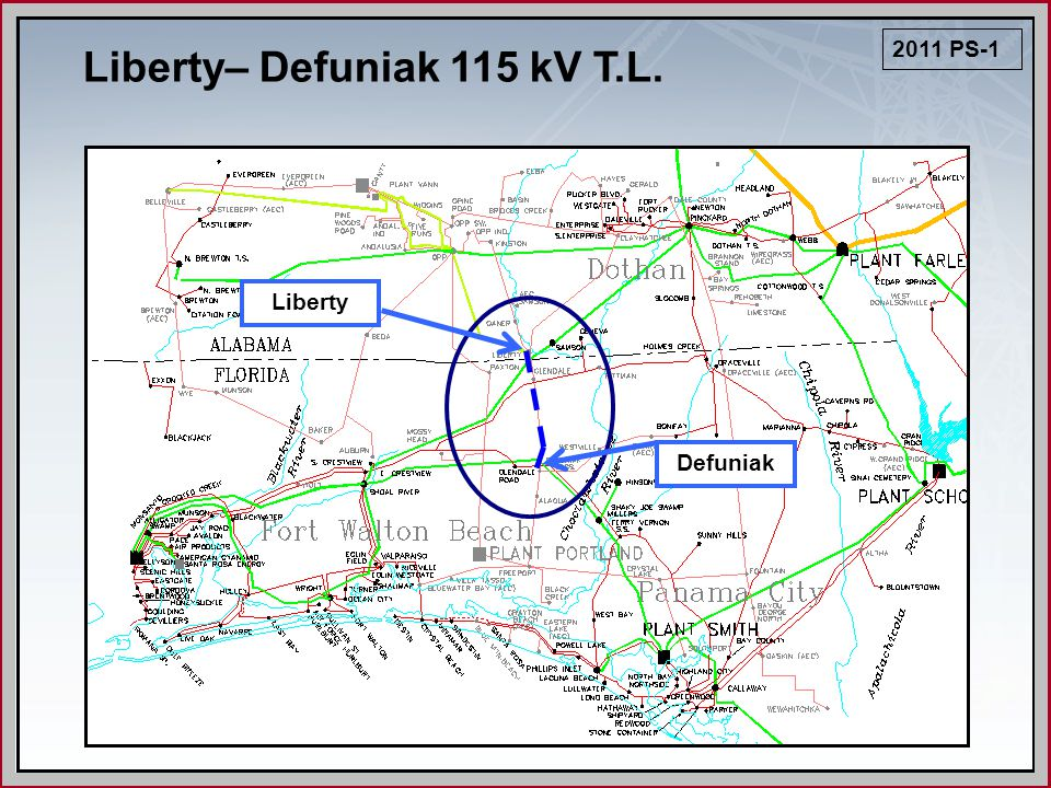Liberty– Defuniak 115 kV T.L. 2011 PS-1 Liberty Defuniak