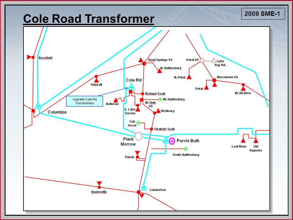 Cole Road Transformer 2009 SME-1