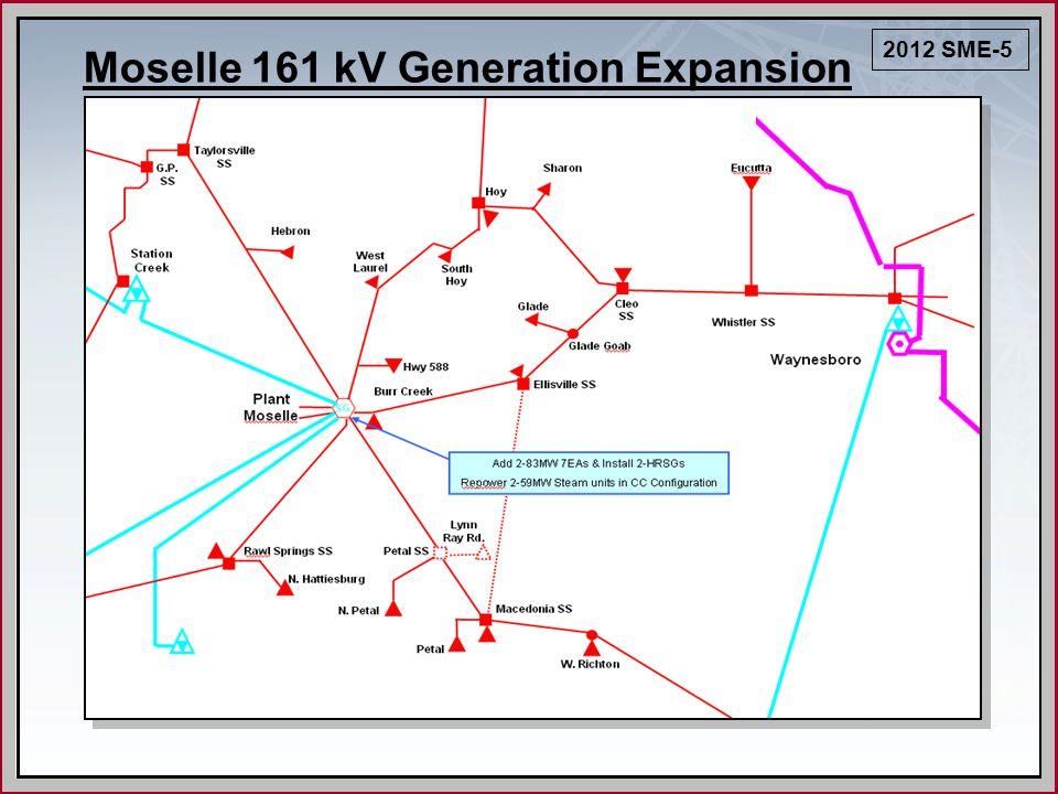Moselle 161 kV Generation Expansion 2012 SME-5