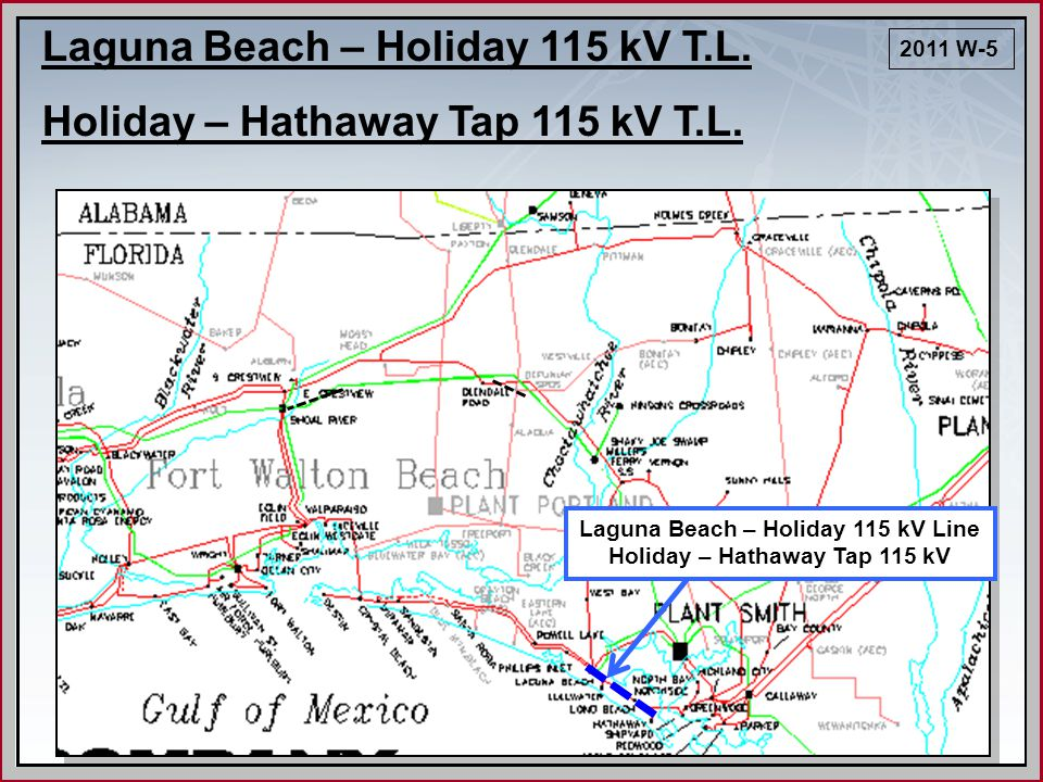Laguna Beach – Holiday 115 kV Line Holiday – Hathaway Tap 115 kV Laguna Beach – Holiday 115 kV T.L.