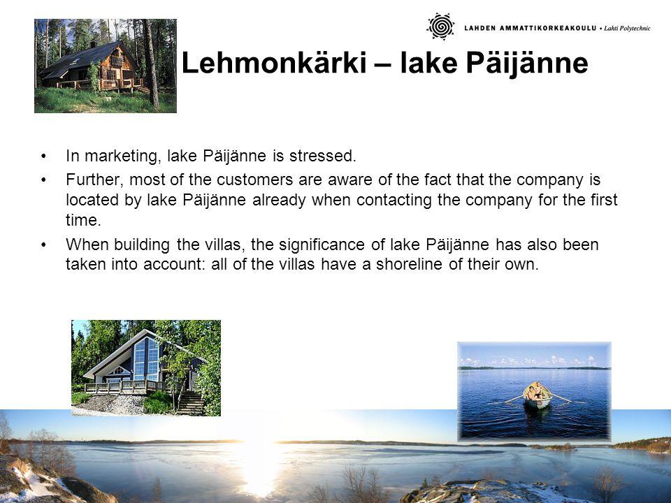 Lehmonkärki – lake Päijänne In marketing, lake Päijänne is stressed.
