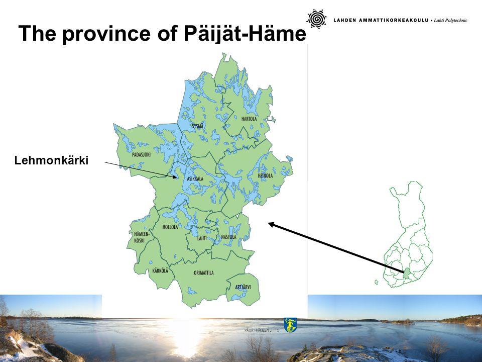 The province of Päijät-Häme Lehmonkärki