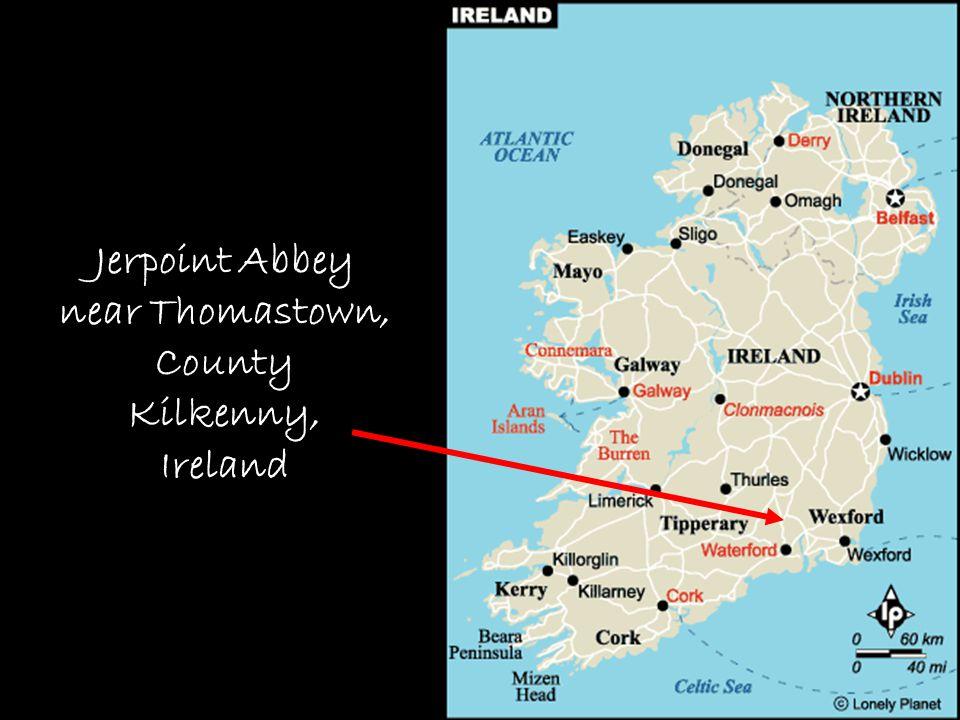 Map – Jerpoint Abbey Jerpoint Abbey near Thomastown, County Kilkenny, Ireland
