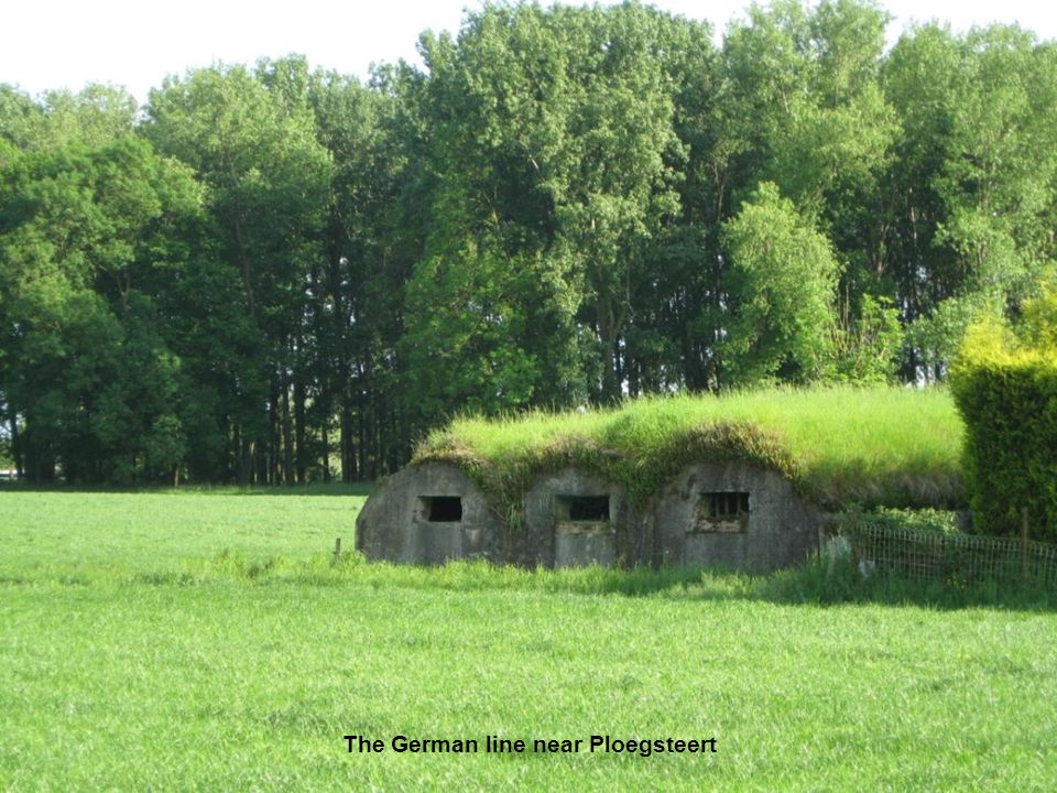 The German line near Ploegsteert
