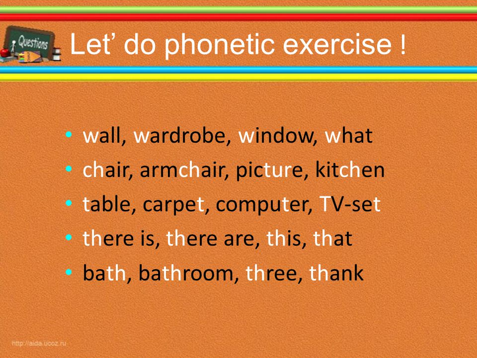 Let' do phonetic exercise .