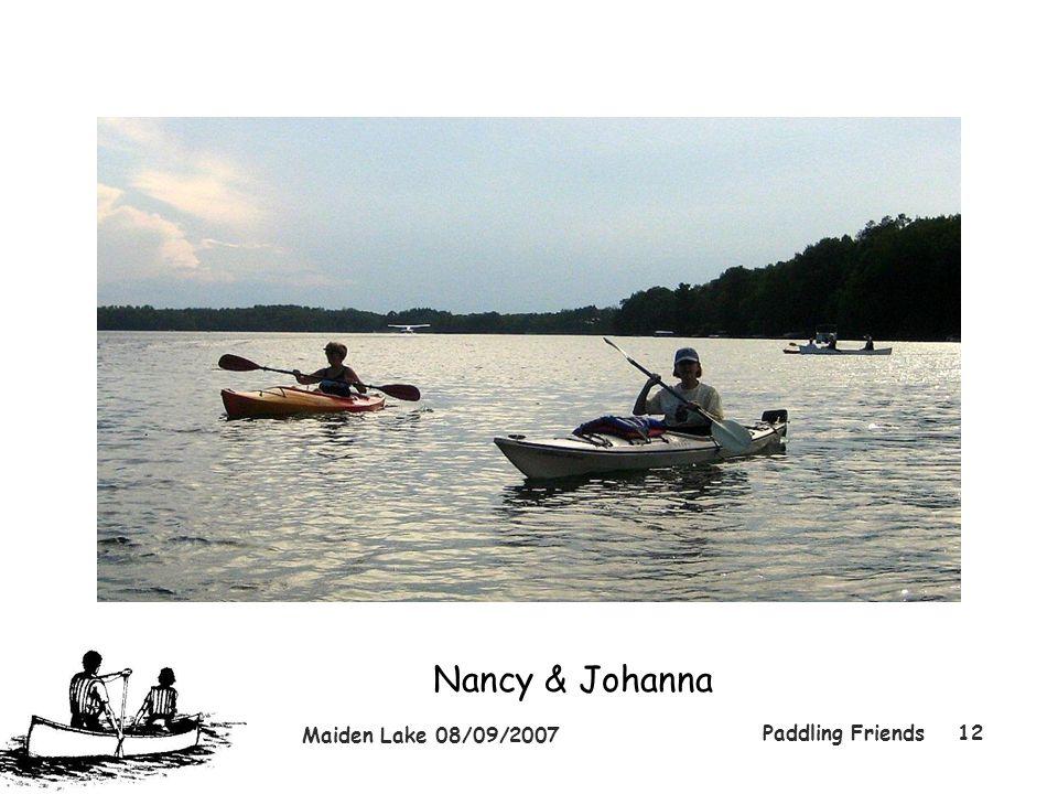 Maiden Lake 08/09/2007 Paddling Friends12 Nancy & Johanna