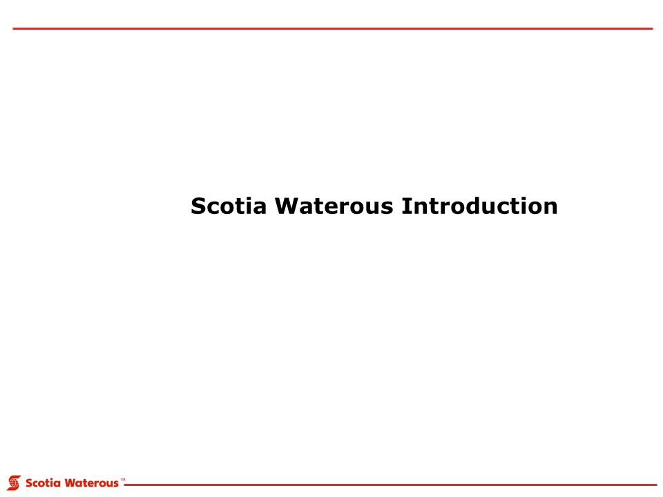 Scotia Waterous Introduction