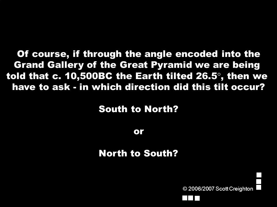 Of course, if through the angle encoded into the Grand Gallery of the Great Pyramid we are being told that c.