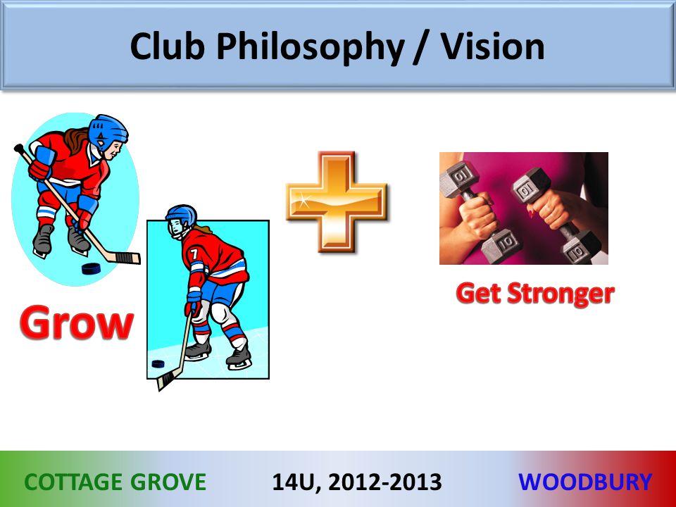 COTTAGE GROVEWOODBURY14U, 2012-2013 Club Philosophy / Vision