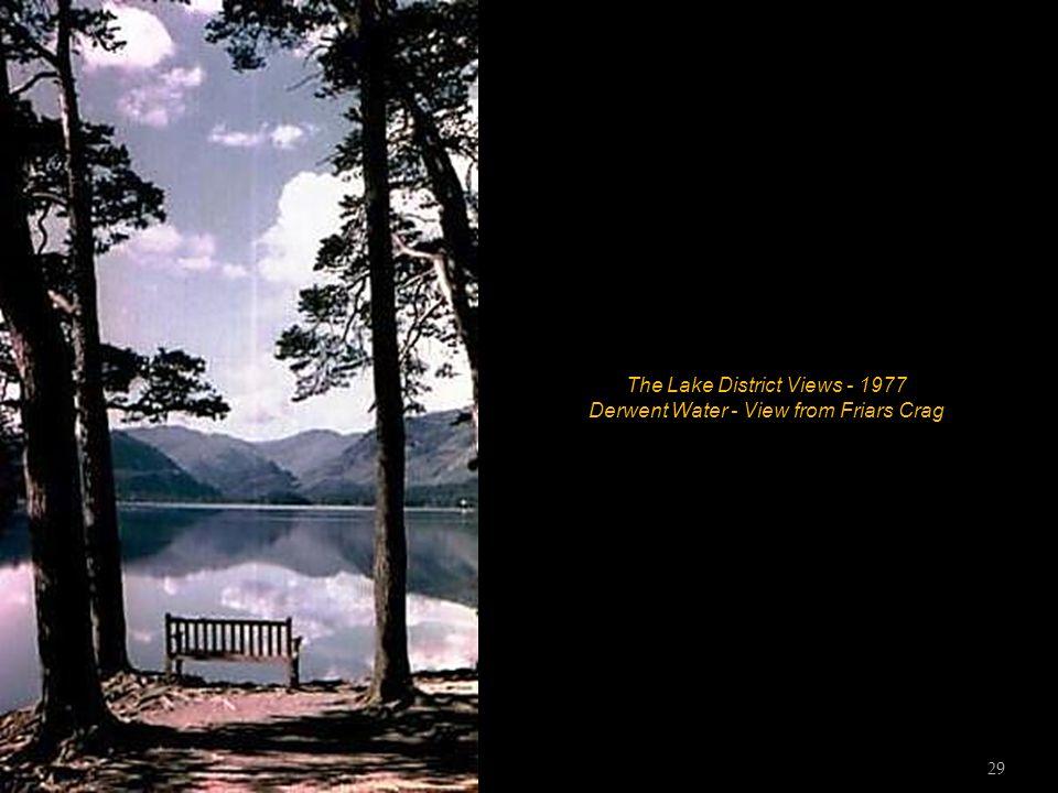 The Lake District Views - 1977 Derwent Water - The boat landings 28