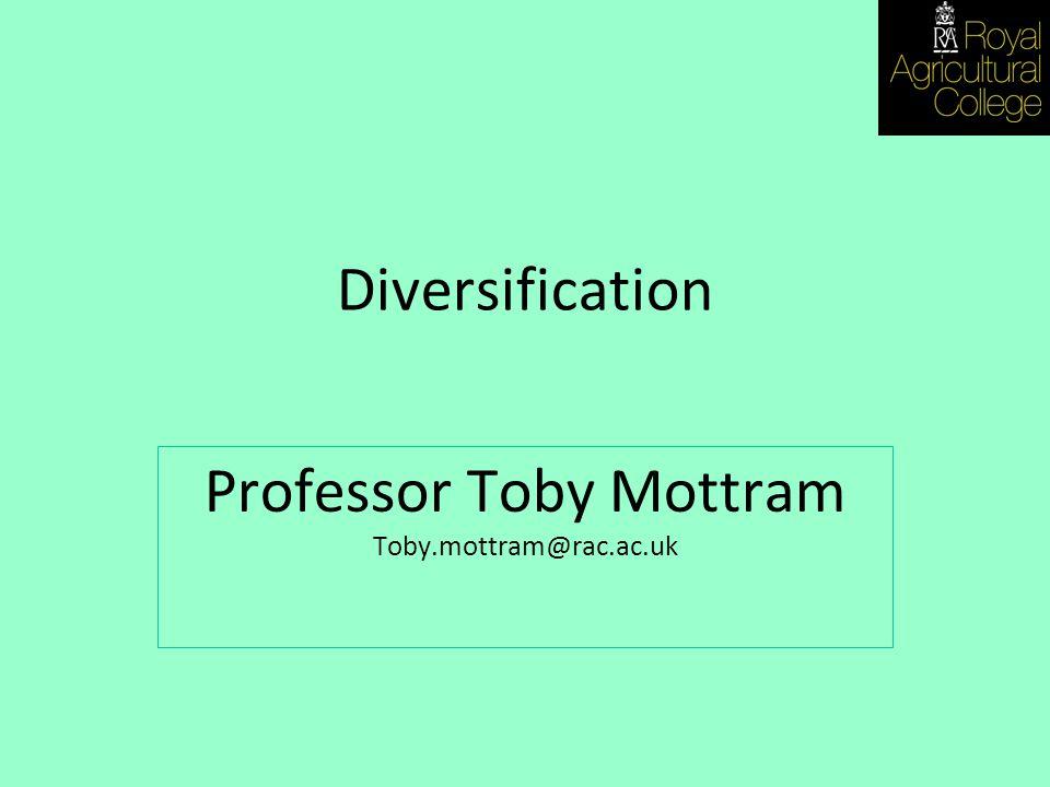 Diversification Professor Toby Mottram Toby.mottram@rac.ac.uk