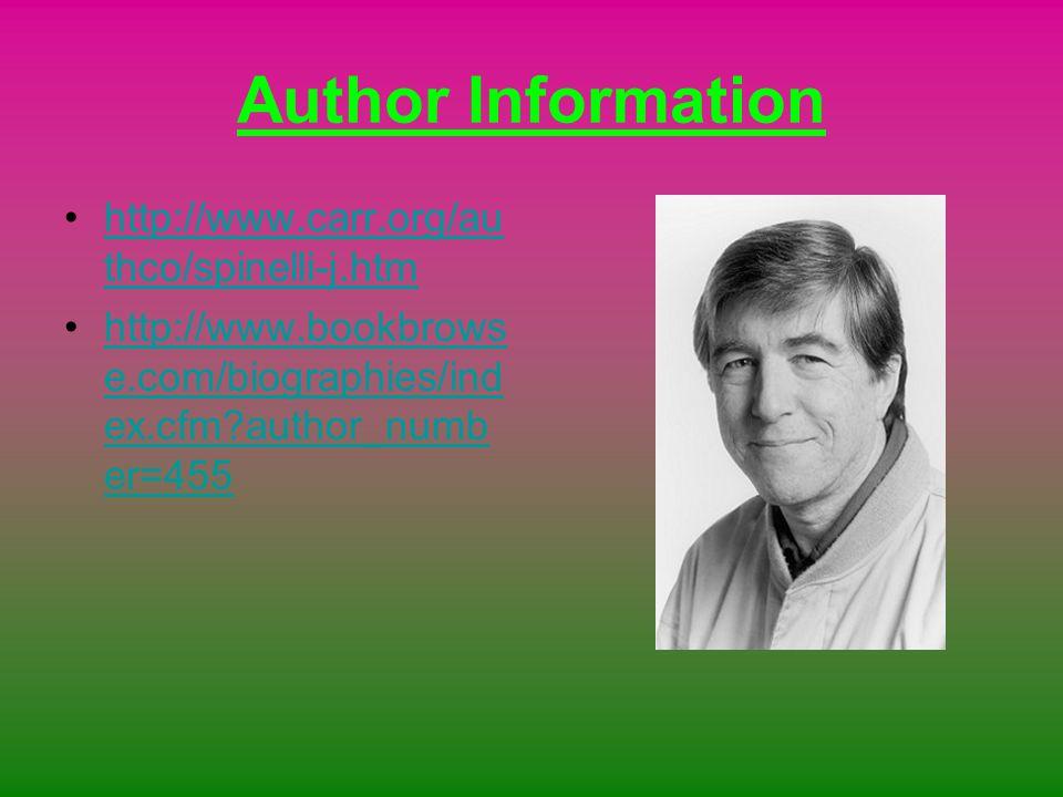 Author Information http://www.carr.org/au thco/spinelli-j.htmhttp://www.carr.org/au thco/spinelli-j.htm http://www.bookbrows e.com/biographies/ind ex.