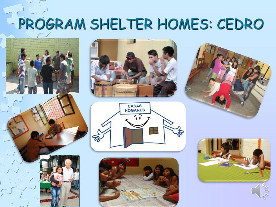 PROGRAM SHELTER HOMES: CEDRO