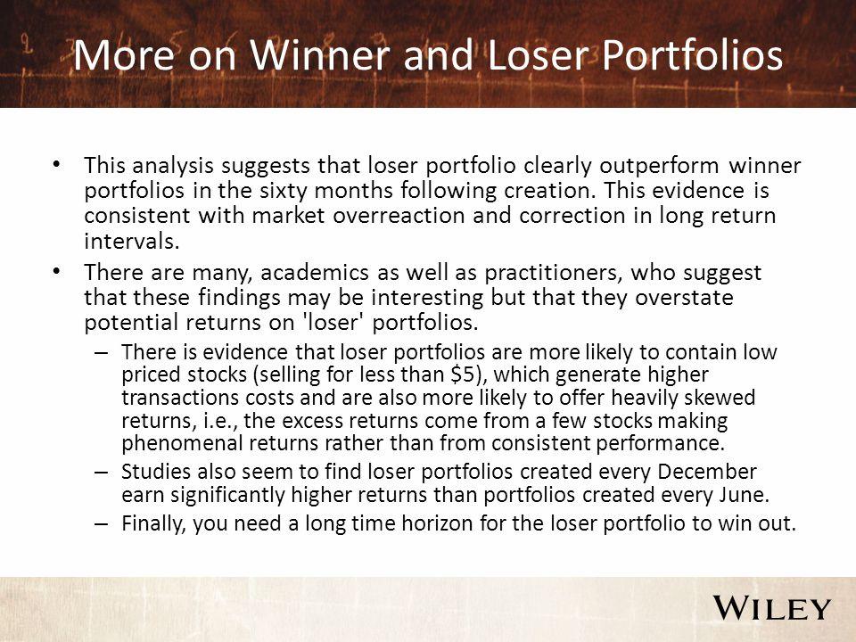 Loser Portfolios and Time Horizon