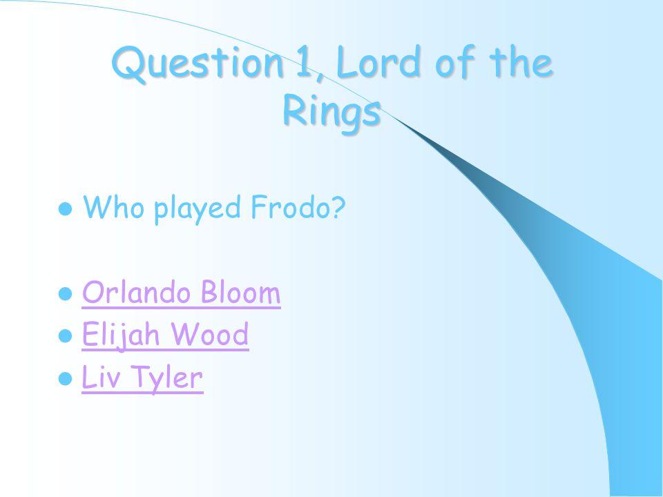 Question 8, Shrek What is Shrek? Ogre Mouse Lion