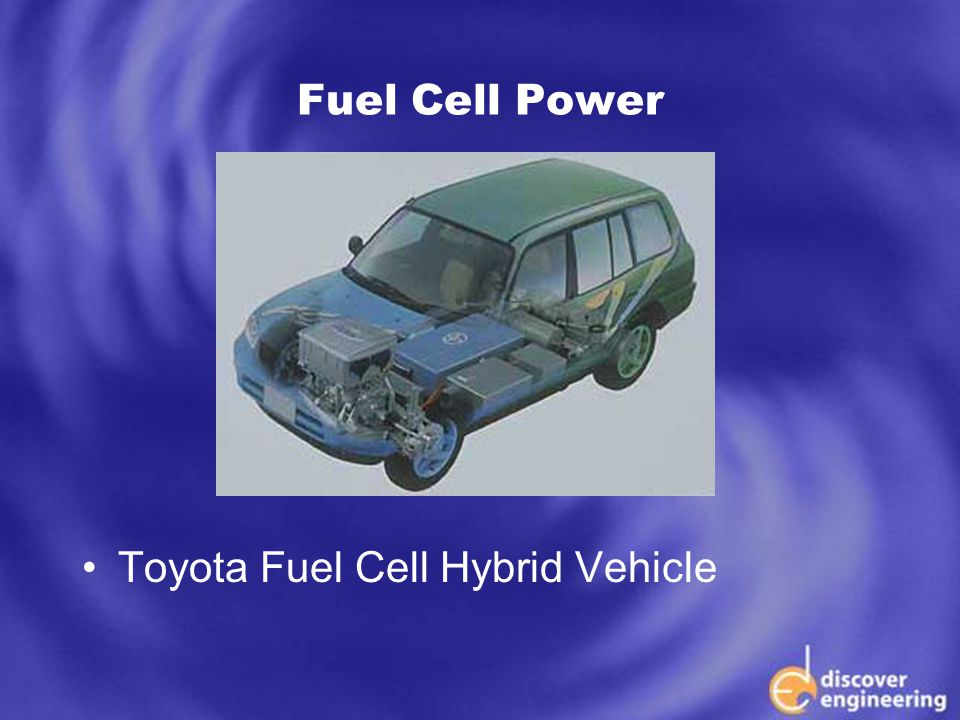 ECSE Department Programs Fuel Cell Power Toyota Fuel Cell Hybrid Vehicle