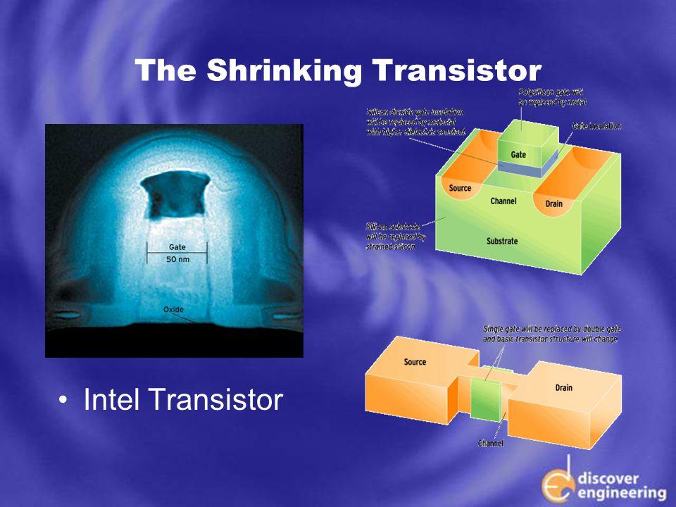 ECSE Department Programs The Shrinking Transistor Intel Transistor