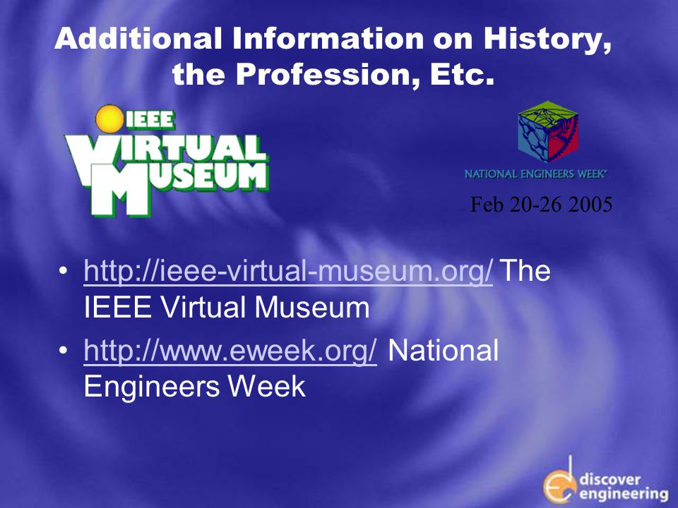 ECSE Department Programs Additional Information on History, the Profession, Etc.