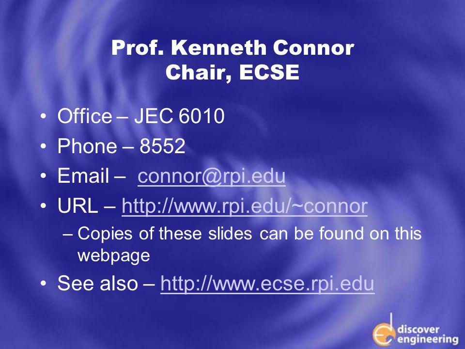 ECSE Department Programs Prof.