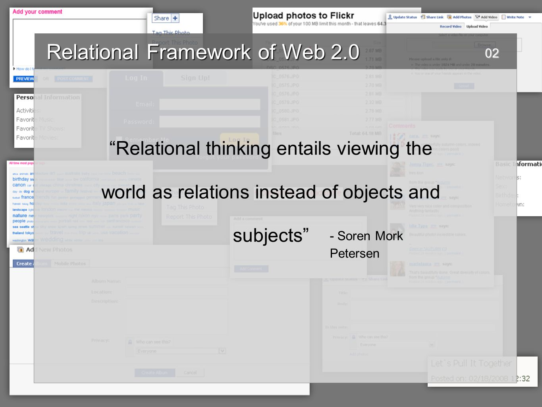 Relational Framework of Web 2.0 Relational Framework of Web 2.0 UsersCorporations Citizen JournalismExploitation User Generated ContentFree Labour User Driven InnovationEnclosure 03