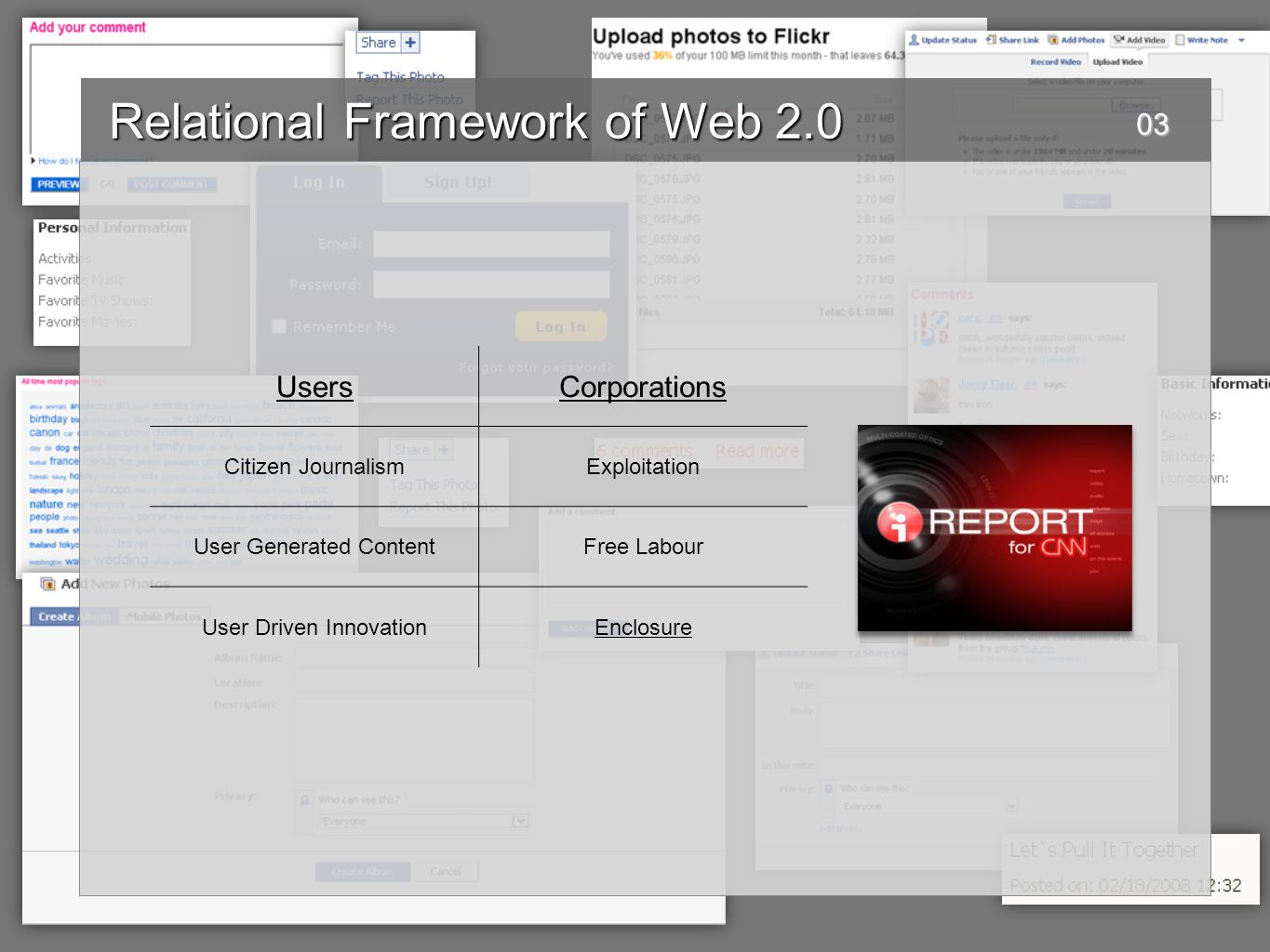 Relational Framework of Web 2.0 Relational Framework of Web 2.0 youtube video http://www.youtube.com/watch?v=gFBfXF3yqCo&feature=related http://www.youtube.com/watch?v=gFBfXF3yqCo&feature=related04