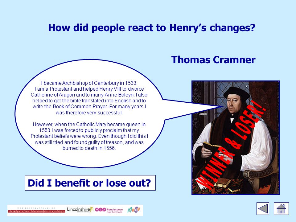 How did people react to Henry's changes. Did I benefit or lose out.