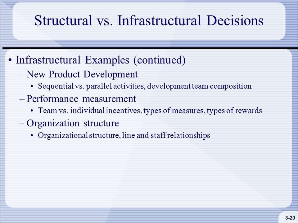 3-20 Structural vs.