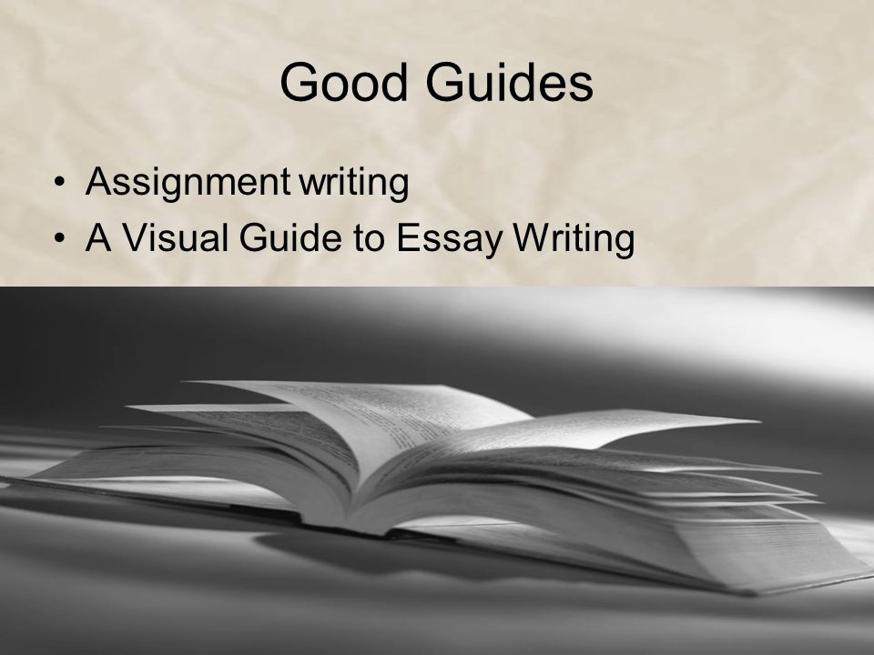 Good Guides Assignment writing A Visual Guide to Essay Writing