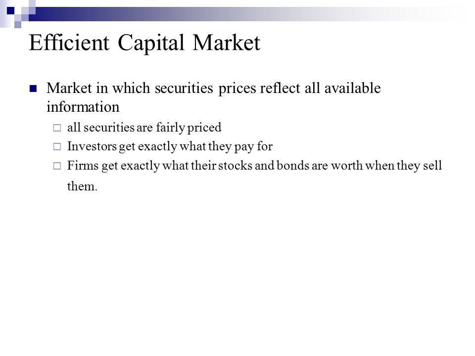 Book-to-market effect