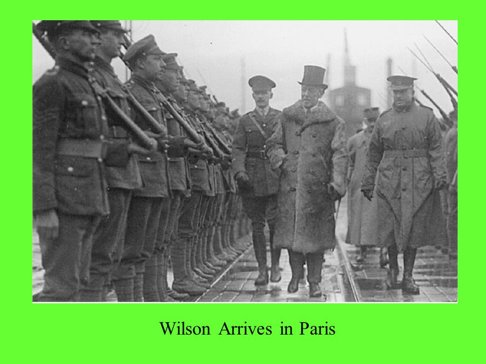 Wilson Arrives in Paris