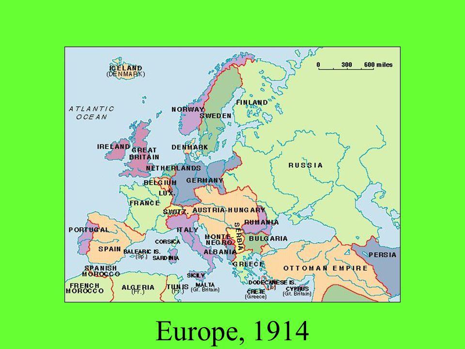 Europe, 1914