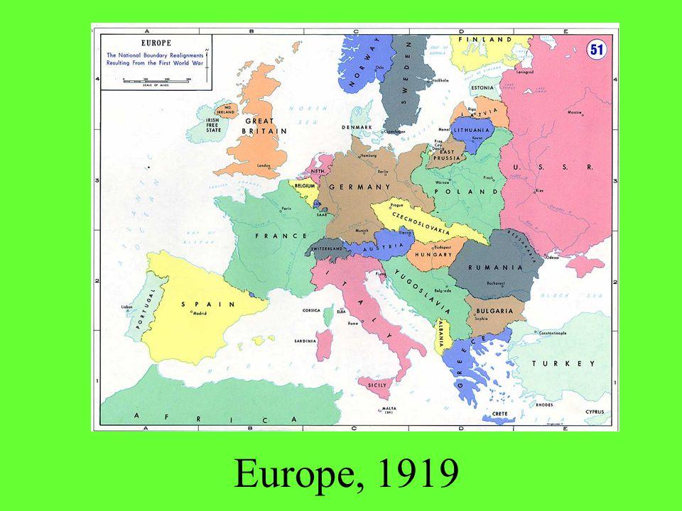 Europe, 1919