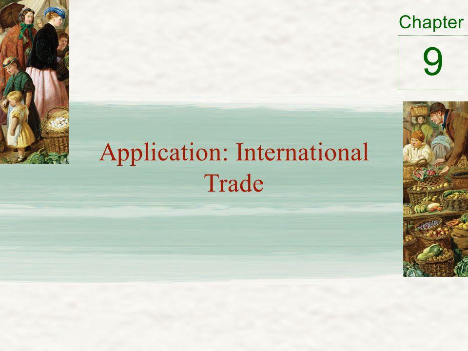 Chapter Application: International Trade 9
