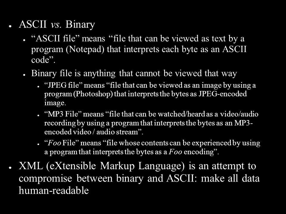 ● ASCII vs.