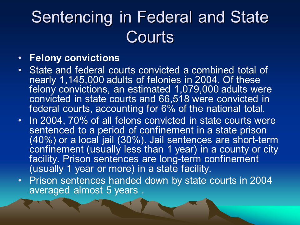 State Court Case Processing Felony defendants In the nation's 75 largest counties, an estimated 58,100 defendants were charged with a felony offense i