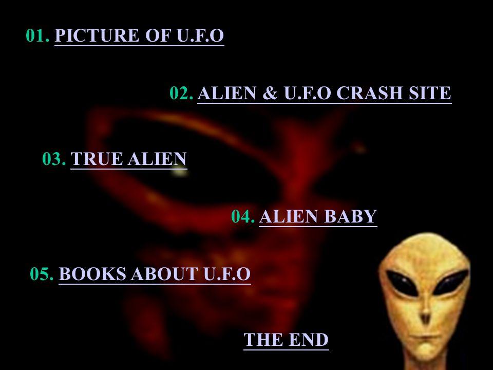 01.PICTURE OF U.F.OPICTURE OF U.F.O 02. ALIEN & U.F.O CRASH SITEALIEN & U.F.O CRASH SITE 03.