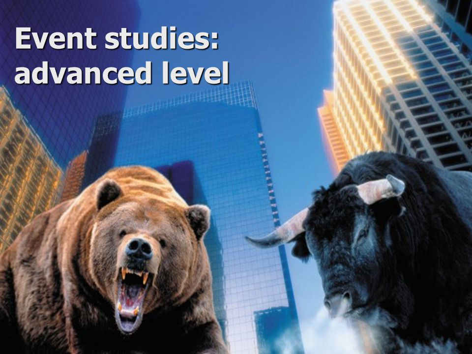 Event studies: advanced level