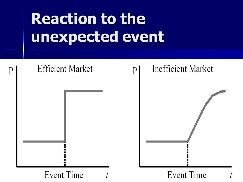 NES EFM 2006/7 5 Reaction to the unexpected event
