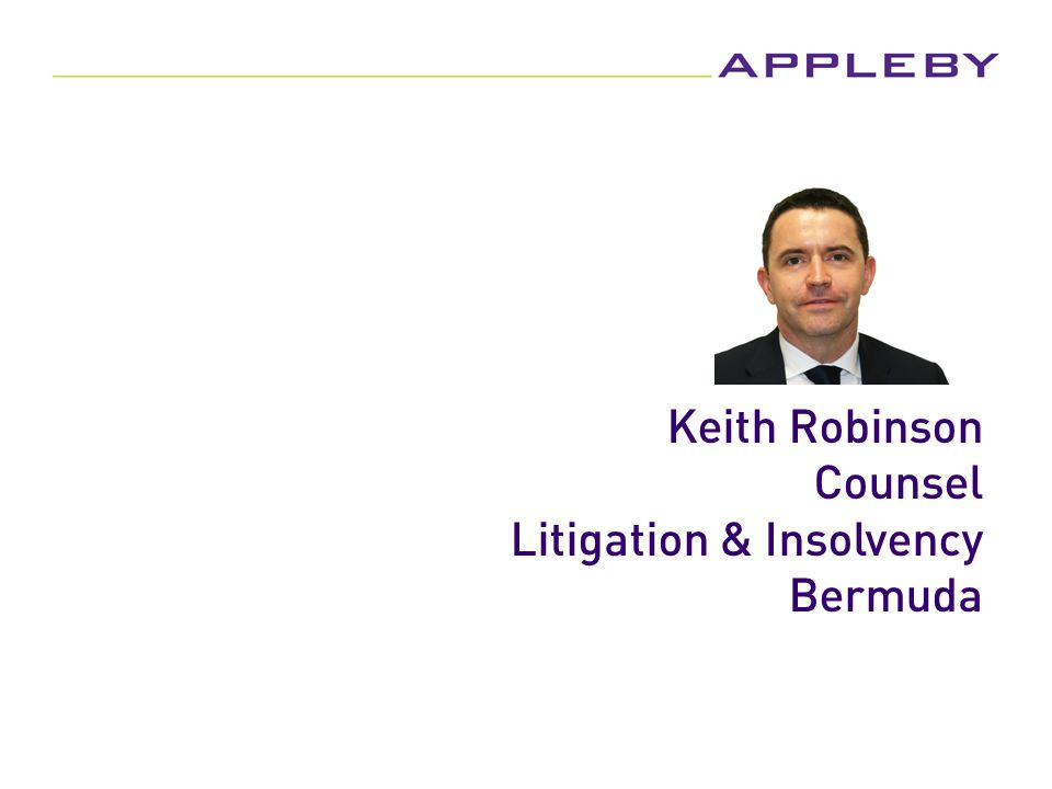 Keith Robinson Counsel Litigation & Insolvency Bermuda