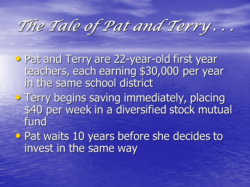 The Tale of Pat and Terry...