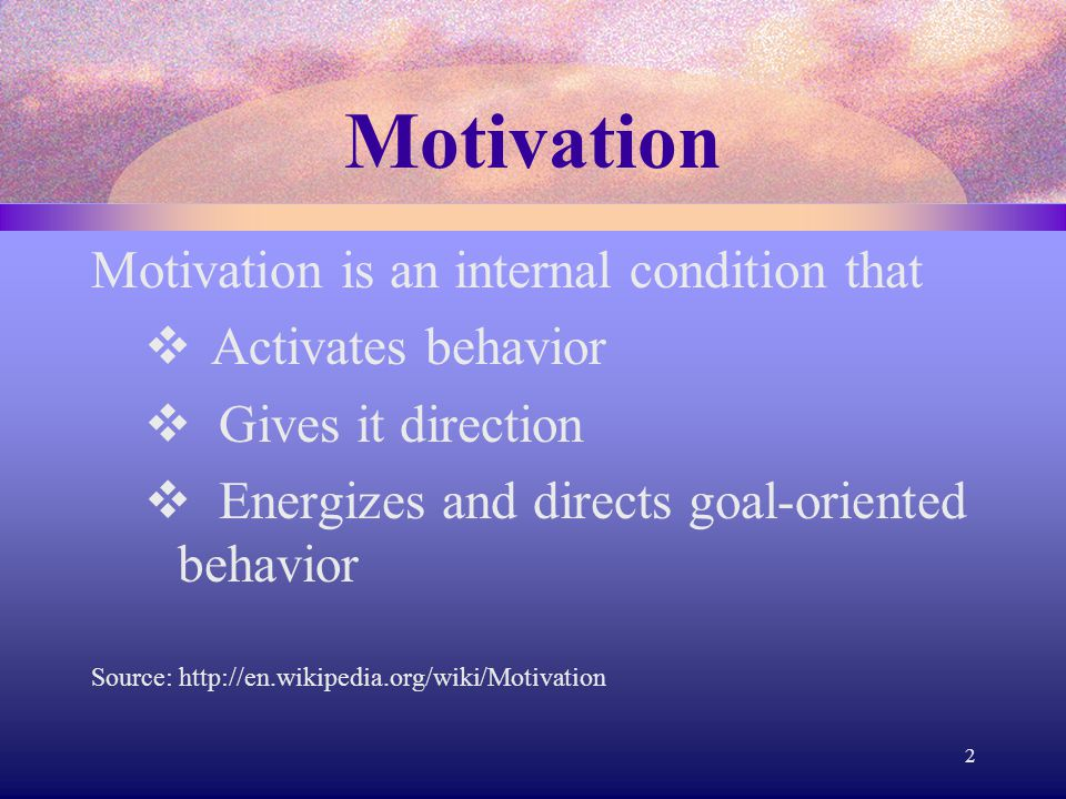 Motivation Intrinsic motivation can help you be even more academically successful because  you set the standards by which you judge your performance.
