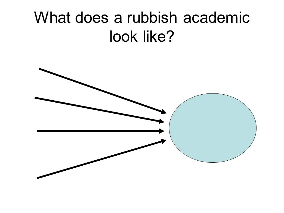 What does a rubbish academic look like?