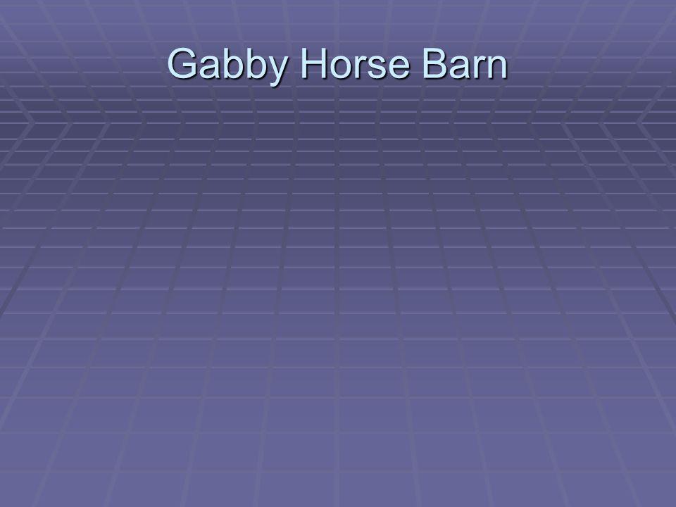 Gabby Horse Barn