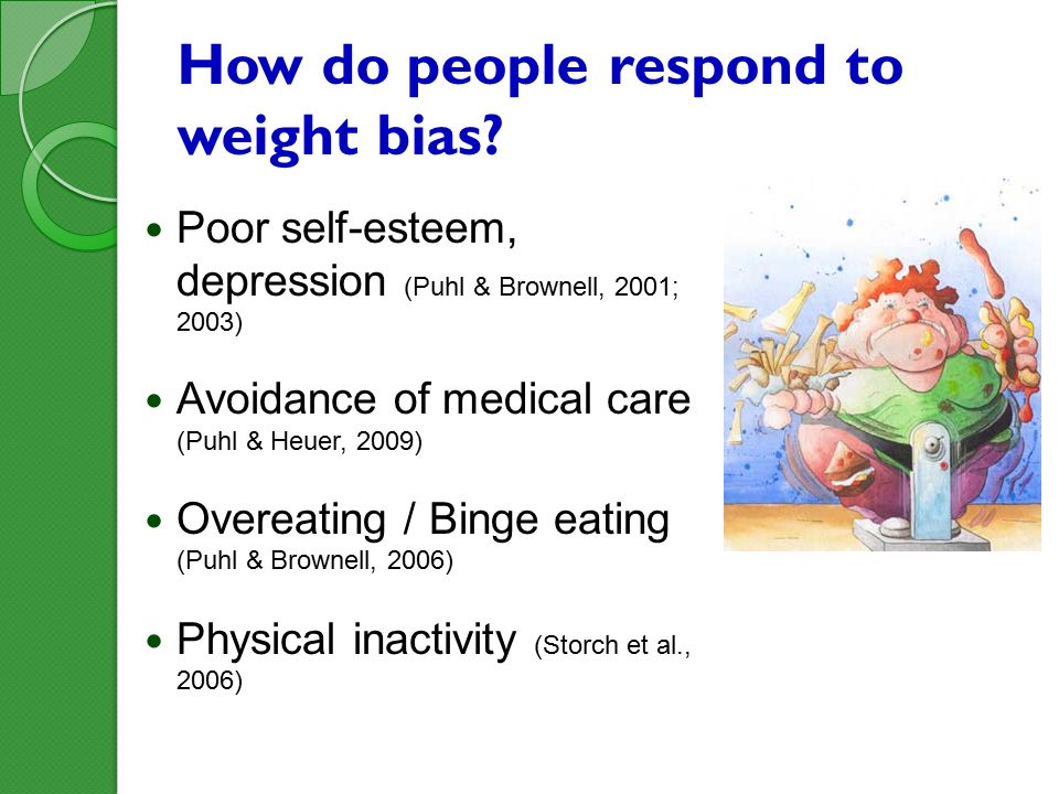 How do people respond to weight bias.