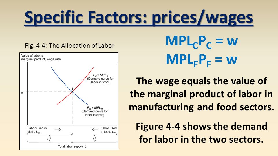 Specific Factors: prices/wages Fig.