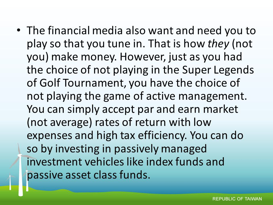 The financial media also want and need you to play so that you tune in.
