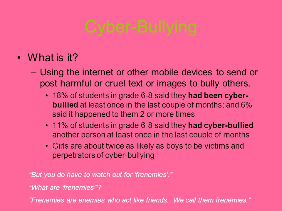 Cyber-Bullying What is it.