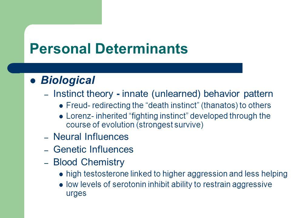 Social Determinants frustration – elicits aggression esp.
