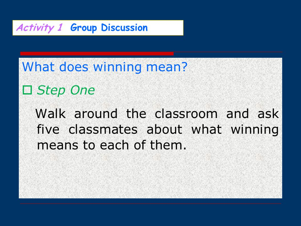  Directions:  For this part, you are allowed 30 minutes to write a composition on the topic: My Definition of Success.